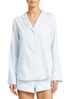 Saks Fifth Avenue Shortie Stripe Pajama Set