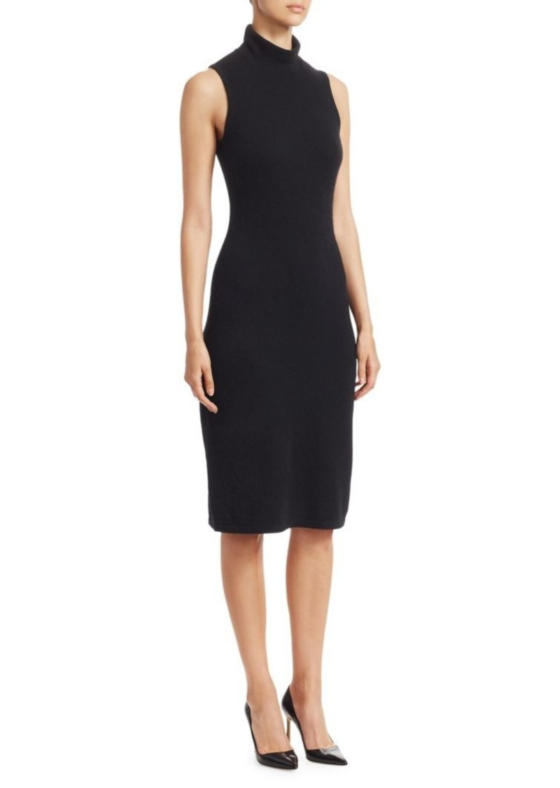 Saks Fifth Avenue COLLECTION Cotton Sleeveless Funnelneck Dress