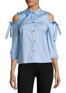 Saks Fifth Avenue Solid Cold-Shoulder Shirt