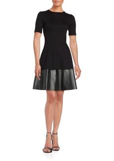Saks Fifth Avenue Solid Short Sleeve Dress
