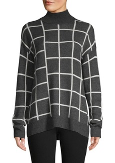 Saks Fifth Avenue Spliced Plaid Turtleneck Sweater