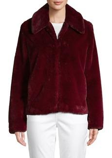 Saks Fifth Avenue Spread-Collar Faux Fur Jacket