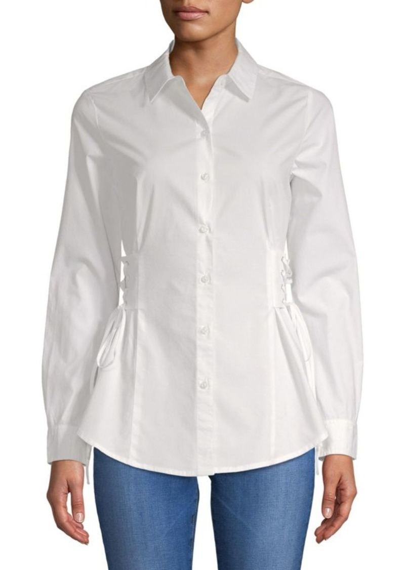 Saks Fifth Avenue Stretch Cotton Lace-Up Shirt
