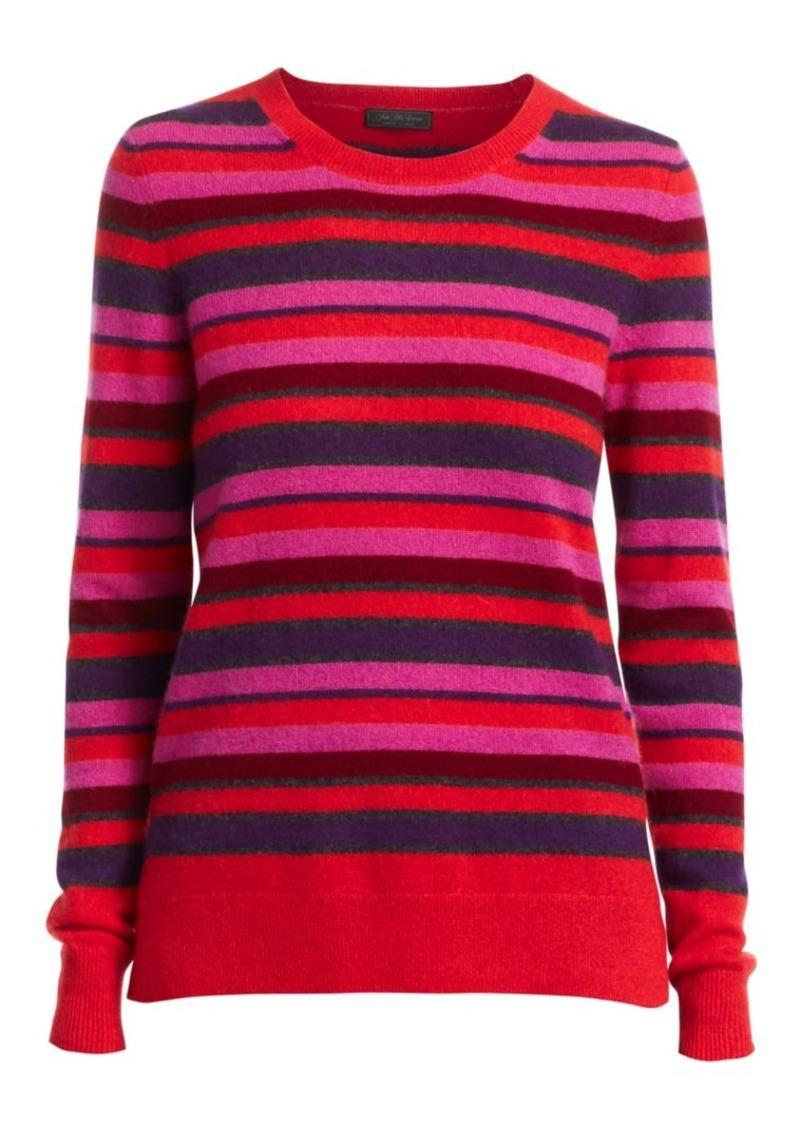 Saks Fifth Avenue Stripe Cashmere Crew Sweater