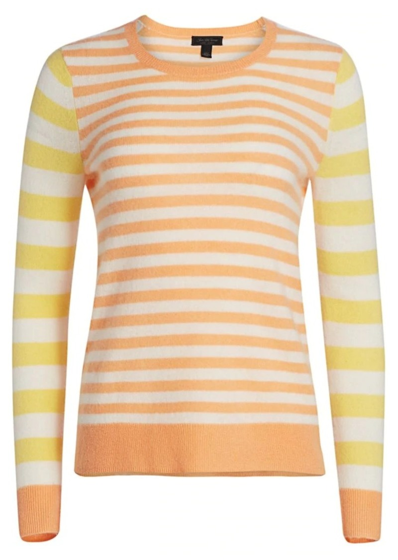 Saks Fifth Avenue Stripe Cashmere Sweater