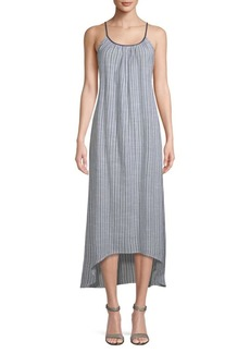 Saks Fifth Avenue Stripe Cotton Maxi Dress