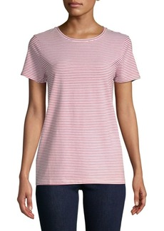 Saks Fifth Avenue Stripe Crewneck Tee