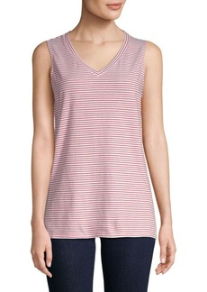 Saks Fifth Avenue Stripe V-Neck Tank Top