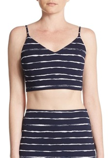 Saks Fifth Avenue Striped Bralette Top