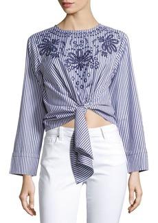 Saks Fifth Avenue Striped Cotton Top