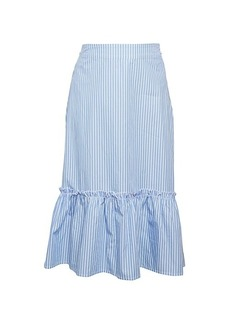 Saks Fifth Avenue Striped Cotton Voile Skirt