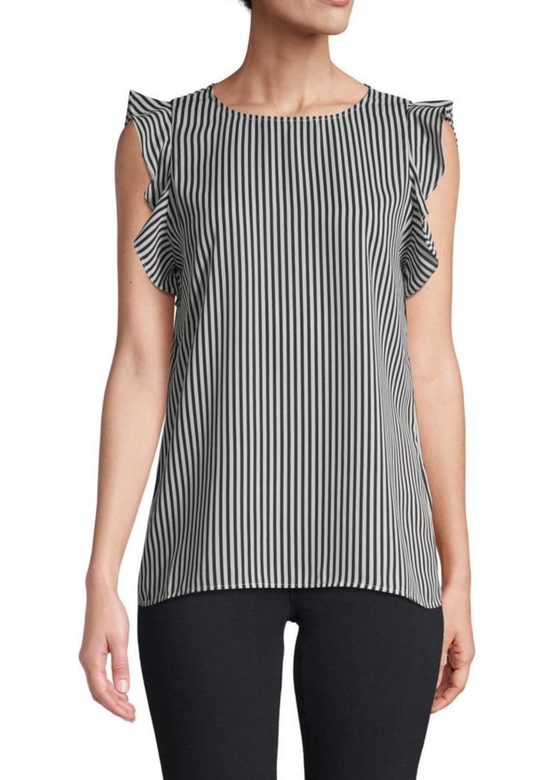 Saks Fifth Avenue Striped Flutter-Sleeve Top