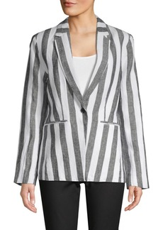 Saks Fifth Avenue Striped Linen Blazer