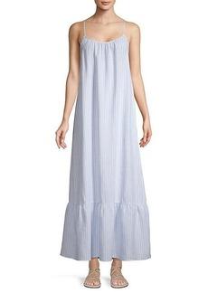 Saks Fifth Avenue Striped Linen Maxi Dress