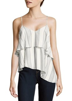 Saks Fifth Avenue Striped V-Neck Top