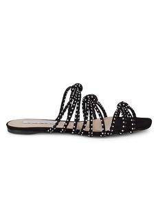 Saks Fifth Avenue Studded Knot-Strap Suede Slides