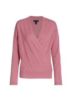 Saks Fifth Avenue Surplice Cashmere Sweater
