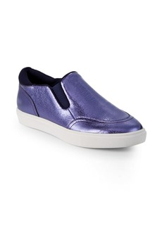 Saks Fifth Avenue Tava Metallic Slip-On Sneakers