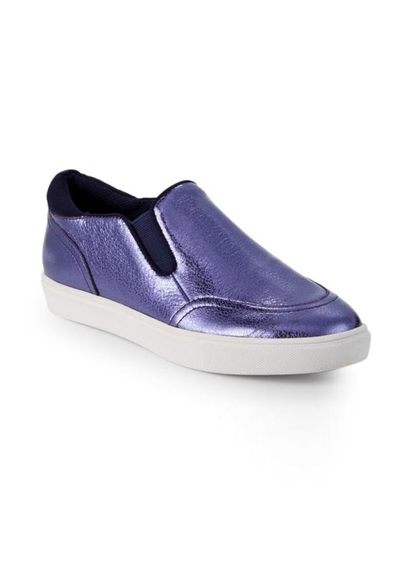 Saks Fifth Avenue Tava Metallic Slip-On Sneakers
