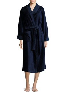 Saks Fifth Avenue COLLECTION Terry Velour Wrap Robe