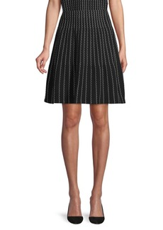 Saks Fifth Avenue Textured Cotton A-Line Skirt