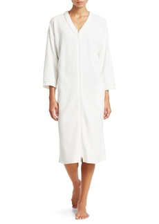 Saks Fifth Avenue Textured Cotton Bathrobe
