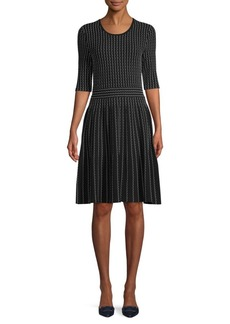 Saks Fifth Avenue Textured Cotton Fit-&-Flare Dress