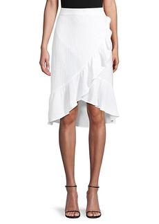 Saks Fifth Avenue Textured Gauze Ruffle-Trim Skirt