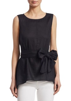 Saks Fifth Avenue COLLECTION Tie Front Blouse