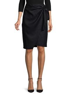 Saks Fifth Avenue Tie-Front Linen Skirt