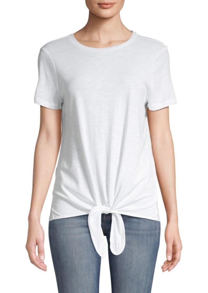 Saks Fifth Avenue Tie Front T-Shirt