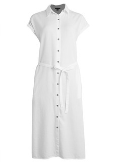 Saks Fifth Avenue Tie-Waist Midi Shirtdress