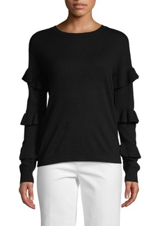 Saks Fifth Avenue Tiered Ruffled-Sleeve Sweater