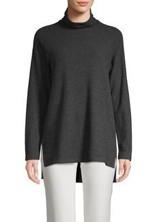 Saks Fifth Avenue Turtleneck Cotton Blend Sweater