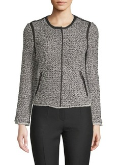 Saks Fifth Avenue Tweed Zip-Up Jacket