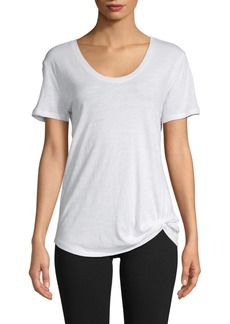 Saks Fifth Avenue Twist-Front Cotton-Blend Tee