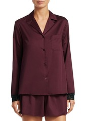 Saks Fifth Avenue COLLECTION Two-Piece Lace-Trimmed Pajama Set