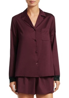 Saks Fifth Avenue Two-Piece Lace Trimmed Pajama Set