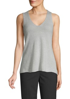 Saks Fifth Avenue V-Neck Cashmere Tank Top