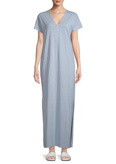 Saks Fifth Avenue V-Neck Cotton Long Dress