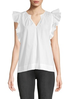 Saks Fifth Avenue V-Neck Cotton Top