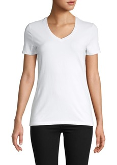 Saks Fifth Avenue V-Neck Essential Fit T-Shirt