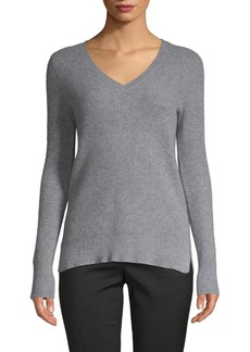 Saks Fifth Avenue Waffle-Stitched Cashmere Sweater