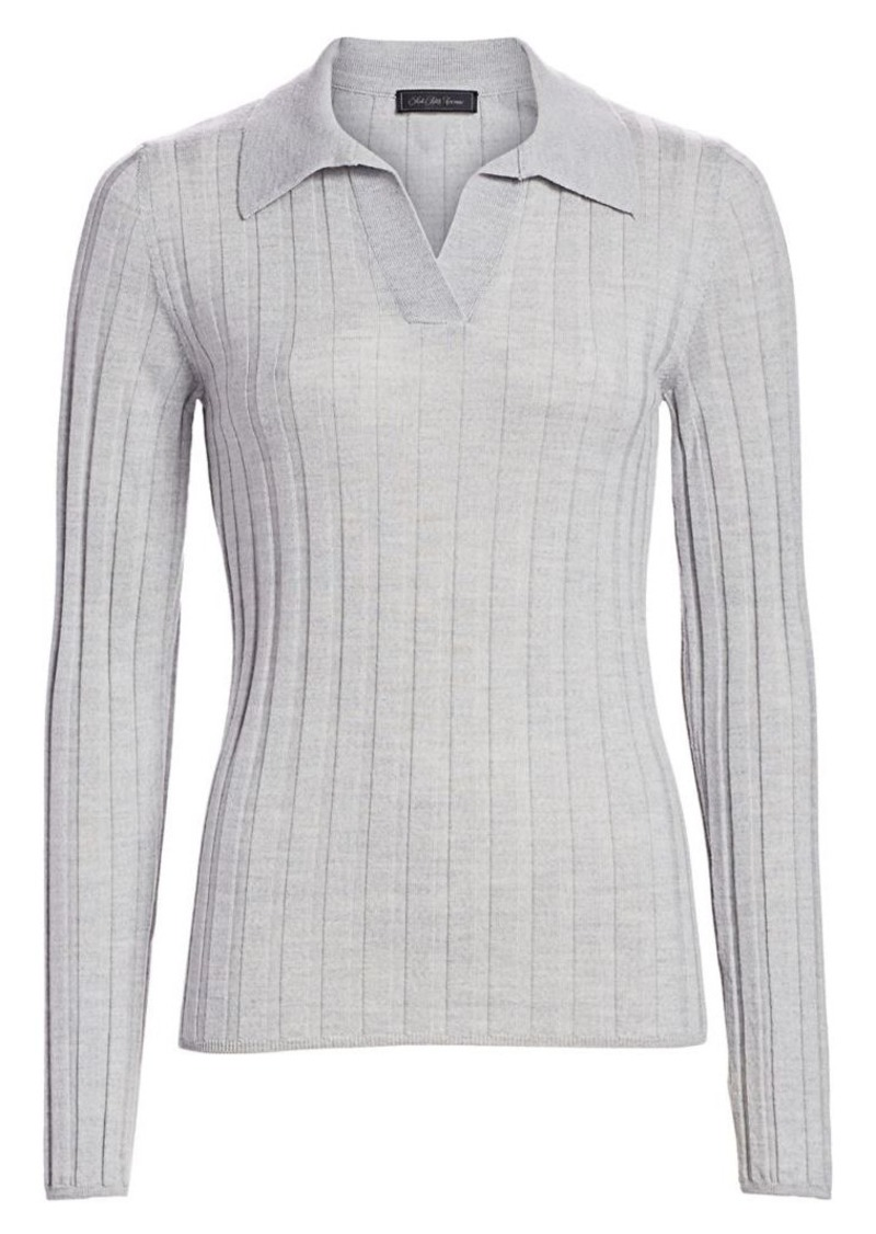 Saks Fifth Avenue Wide Ribbed Polo