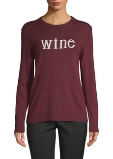 Saks Fifth Avenue Wine Crewneck Sweater