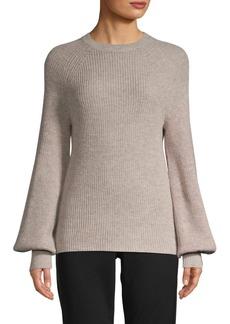 Saks Fifth Avenue Wool-Blend Blouson-Sleeve Sweater