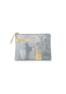 Saks Fifth Avenue Zip-Top Print Leatherette Pouch