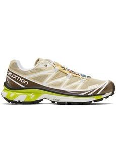 Salomon Beige Limited Edition S/LAB XT-6 Softground LT ADV Sneakers