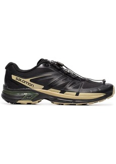 Salomon X The Broken Arm black and gold metallic slab wings pro sneakers
