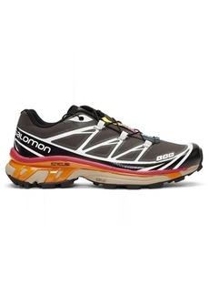 Salomon Grey & Black S/Lab XT-6 Softground ADV Sneakers